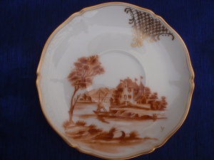 A European Style Landscape On a Saucer