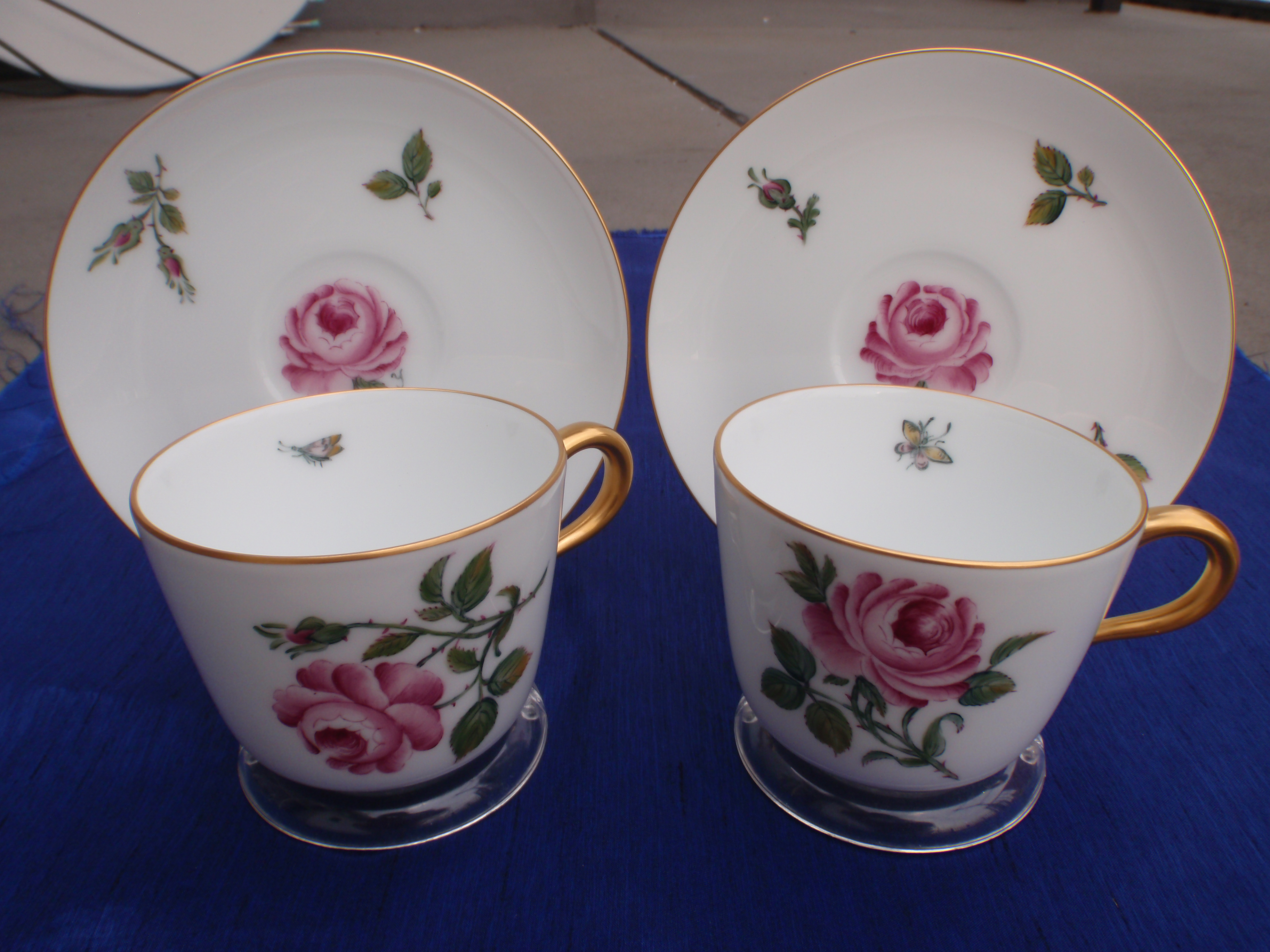 A European Style Rose Painting on Okura Japanese Tableware : european tableware - pezcame.com