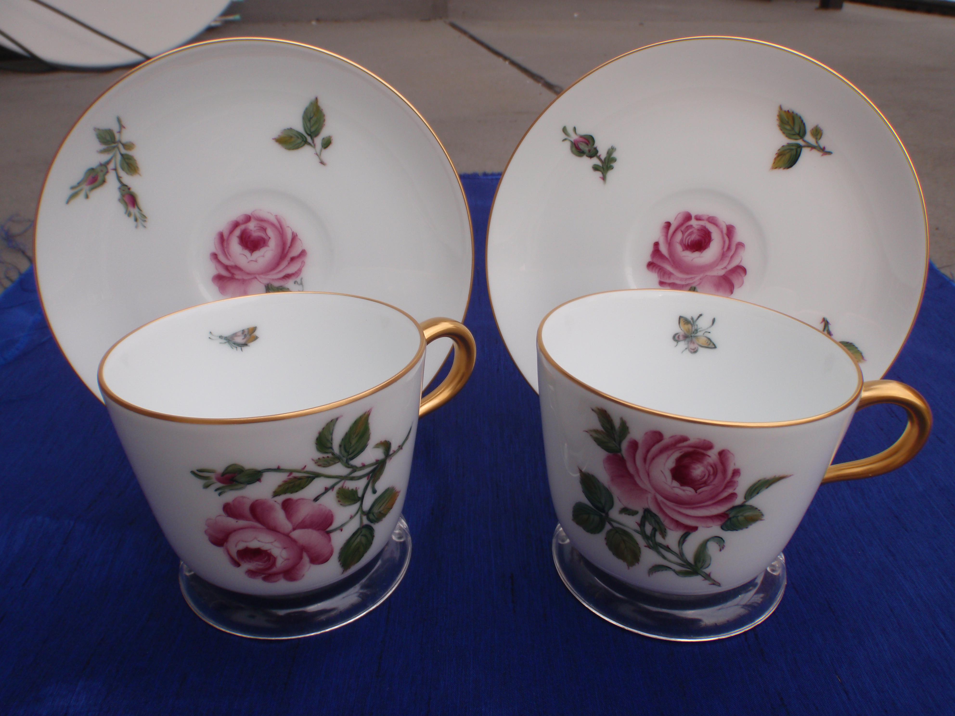 A European Style Rose Painting on Okura Japanese Tableware & Okura Japanese Tableware | My porcelain painting blog