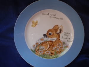 A Deer Plate for My Cosin's Baby Daugther