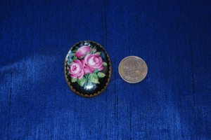 My Pendant Top with Pink Roses