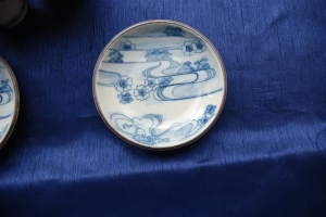 Front View of One of My Parents Japanese Plate with a Imari Painting Style