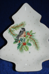 My Bird Painting on a Tree Plate