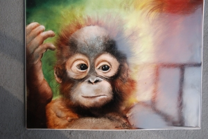 A Baby Monkey painted with Filipe