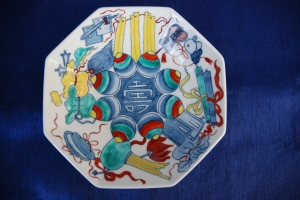 A Front of View of my Nabeshima Plate with a Japanese Imari Style