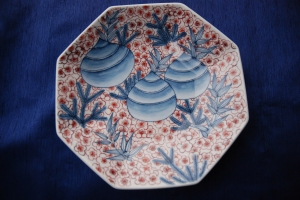 Front View of A Nabeshima Plate for Spring