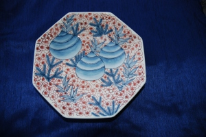 Frong View of A Nabeshima Plate for Spring