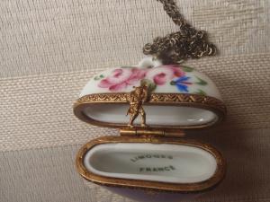 Pendants of Limoges White Porcelain