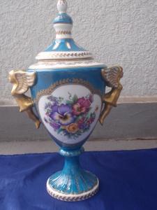 Meissen Style Vase with Ivonne Planos