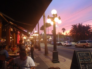 A Lovely Sunset at a Greek Restaurant