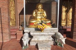 A Overweight Buddha Statue