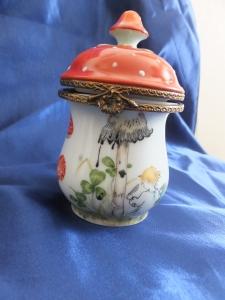 Limoged Porcelain Mushroom