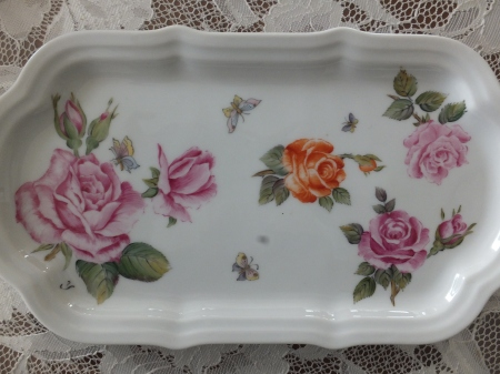 Euproan Style, roses, flower painting, porcelain painting, one fire