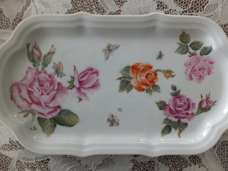 European Style, one fire, roses, flower painting, porcelain painting,