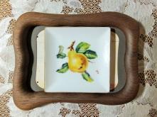European style, fruit painting, Miniature, porcelain painting.
