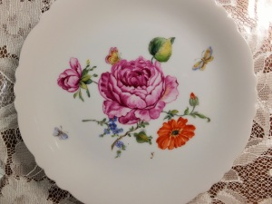 One Fire, European Style, Flower painting, Porcelain painging