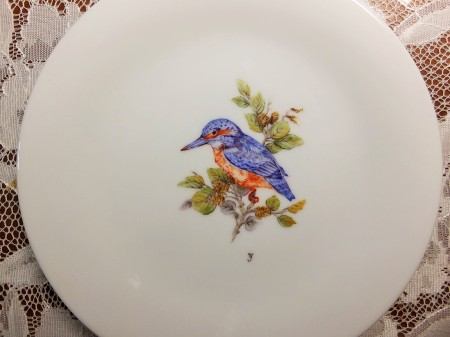 European style, one fire, fat oil, bird painting, china painting, porcelain painting.