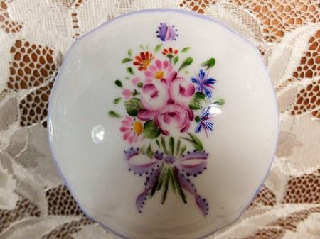 Nyon Style, European style, one fire, porcelain painting, flower painting