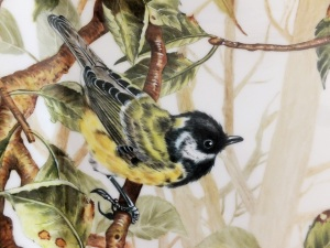 Bird painting, American style, Porcelain painting