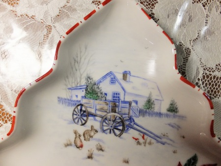 Christmas Plate, Christmas scenery, One fire techniques