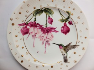 Humming Bird painting, European style,