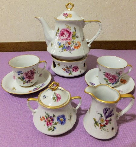 European Style, Tea set, Hand painted