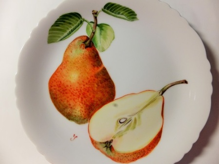 Pear Painting on Porcelain
