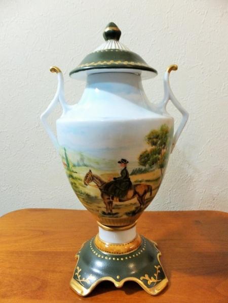 porcelain vase, European style, landscape